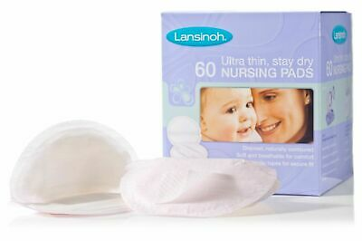 Lansinoh Disposable Nursing Pads 60 Ultra Thin Super Absorbent Natural Fit New