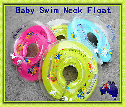 Newborn Baby Swimming Swim Ring Neck Bath Float Ring Inflatable Safety & Comfort