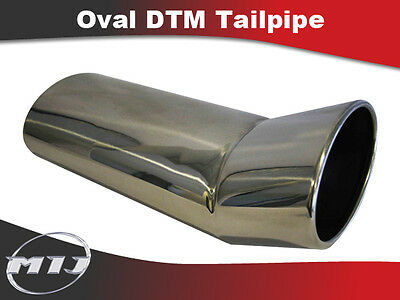 Oval Universal Stainless Steel Exhaust DTM Rounded Edge Tailpipe TP-OV-DTM-1