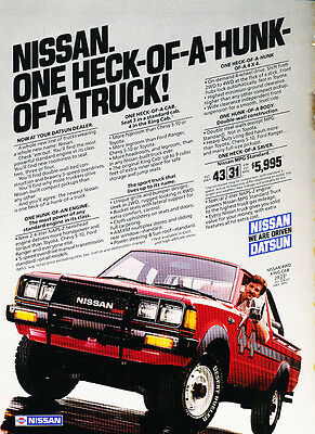 1983 Nissan Truck Datsun King Cab - Classic Vintage Advertisement Ad H20