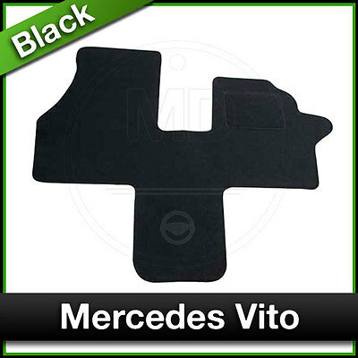 Tailored Fitted Carpet Mat MERCEDES VITO (1999 2000 2001 2002 2003) Black