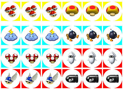 Mario Bros 2 Item Cupcake Edible Icing Party Cake Topper Decoration Image