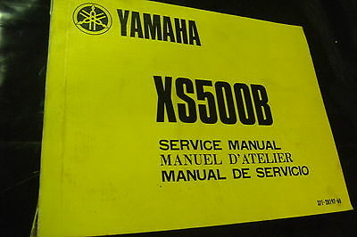 Yamaha Xs500B Workshop Manual