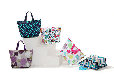 New Insulated Tote Lunch Bag Cool Bag Cooler Lunch Box - Multiple Designs