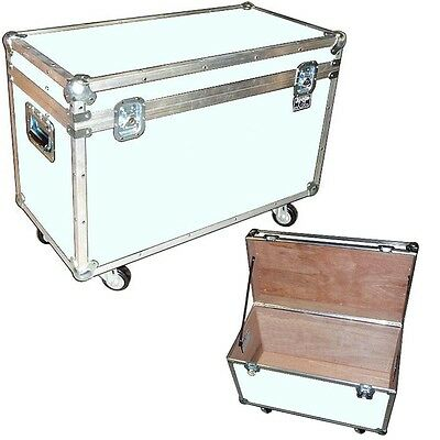 "Medium Duty 1/4"" ATA ""BULLY"" UTILITY TRUNK w/ WHEELS! White"