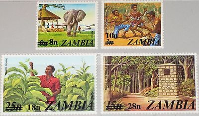 ZAMBIA SAMBIA 1979 197-00 188-91 Dance Tanz Elephant Flora new currency ovp MNH
