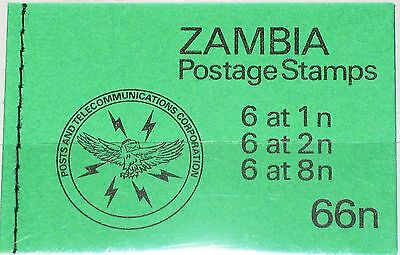 ZAMBIA SAMBIA 1981 249 250 252 MH Booklet Traditional Life Definitives MNH