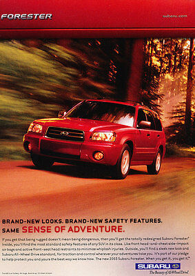 2003 Subaru Forester - red - Classic Vintage Advertisement Ad H21