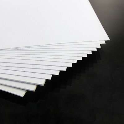 ABS09 16PCS Mixed Thickness ABS Styrene Sheets 200 x 250mm White NEW