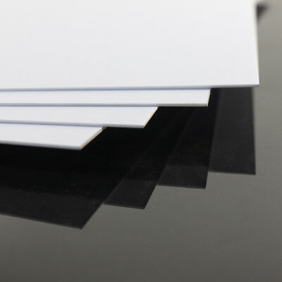 ABS0905 8pcs 0.5mm Thickness 200mm x 250mm ABS Styrene Sheets White NEW