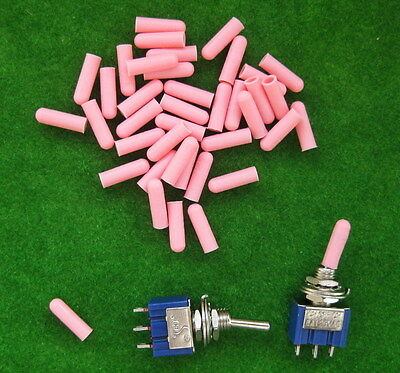 XPT03P 100pcs Miniature PINK Toggle Switch Covers NEW