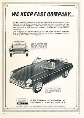 1964 MG MGB AMCO parts Classic Vintage Advertisement Ad