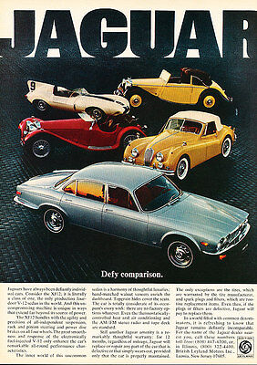 1977 Jaguar XJ XJ6 Classic Vintage Advertisement Ad
