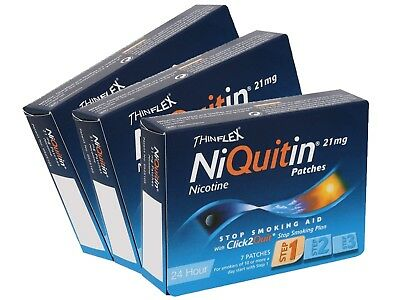 Niquitin CQ Patches 21mg Original - Step 1 - 7 Patches Pack of 3