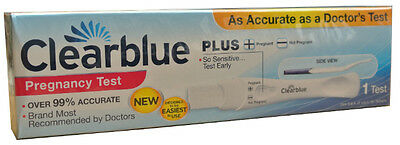 1 x Clearblue Plus Pregnancy Urine Test Kit - Home Testing Sticks