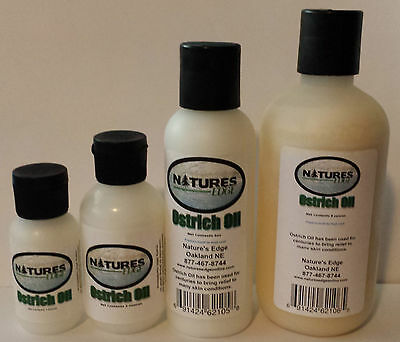 Ostrich Oil 1, 2, 4, 8, 16 oz USA Nature's Edge Pure Cosmetic Grade LIKE EMU