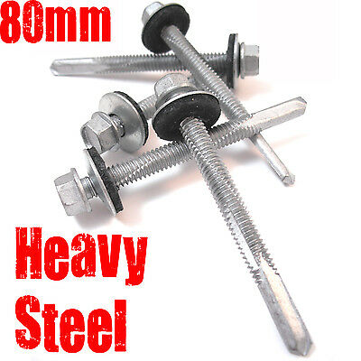 600, 5.5 x 80mm TEK CORRUGATED ROOFING SCREW - HEAVY STEEL, SELF DRILLING