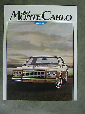 1980 Chevrolet Monte Carlo Dealer Sales Brochure