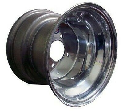 10x8 Polished Aluminum Rim from Douglas for Golf Cart, Kart, Rim, EZGO, Racing