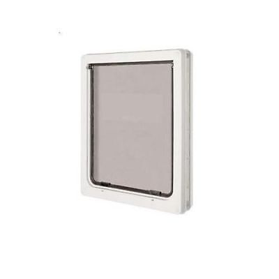 Dog Mate Medium Pet Door Flap White For Cats & Dogs Security Panel 215W