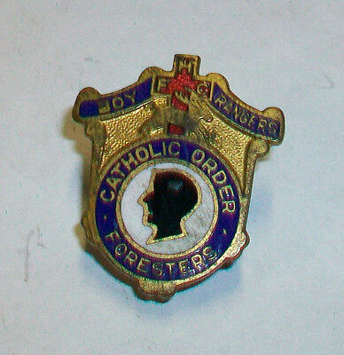 Vintage Screw-Back Pin BOY RANGERS CATHOLIC ORDER FORESTERS