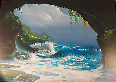 """HAWAIIAN HIDEAWAY"" Ltd Ed Giclee on Stretched Canvas AP#10/20 by CLINT SLOAN"