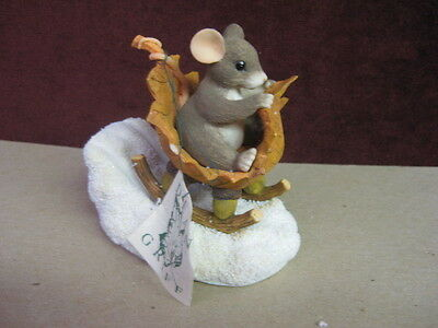 Charming Tails A One Mouse Open Sleigh 98/195~ Rare New Factory Fresh
