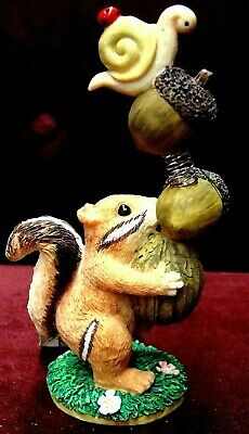 Charming Tails By Dean Griff  Silvestri You're Nutty ! Figurine 87451~Rare New