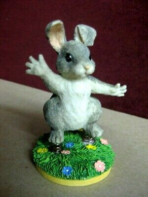Charming Tails By Dean Griff Hoppity Hop Figurine~Rare New 87425