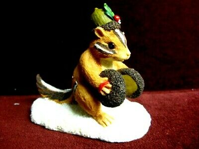 Charming Tails Chauncey's Noisemakers 87554 Dean Griff~ Squirrel Cute Rare New