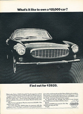 1966 Volvo 1800 S - Find - Classic Vintage Advertisement Ad D119