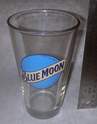 Blue Moon Beer Glass New