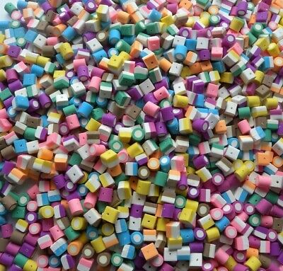 Bulk 160 Mixed Small Fimo Polymer Dolly Mixture Beads