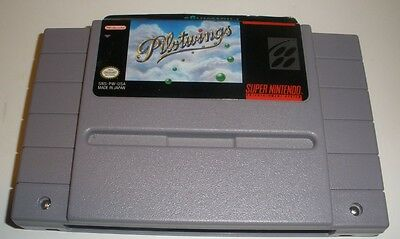 Pilotwings SNES video game nice label but loose TESTED
