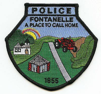 FONTANELLE IOWA IA a place to call home POLICE PATCH