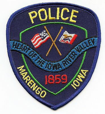 MARENGO IOWA IA Heart of The Iowa River Valley POLICE PATCH
