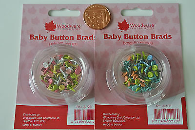 Woodware » Mini Brads - Baby Buttons (Boys Or Girls) 80 Pcs