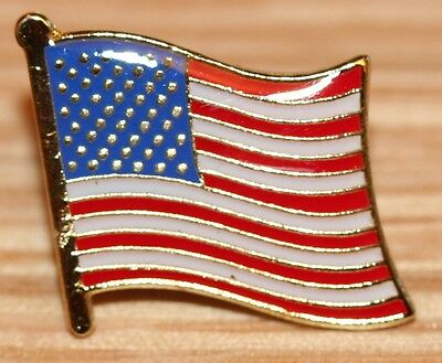 USA United States of America US Country Metal Flag Lapel Pin Badge