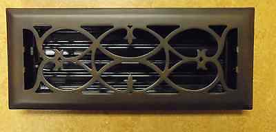 SOLID Brass Victorian Oil Rubbed Bronze Floor Register - 4x12 and 4x14