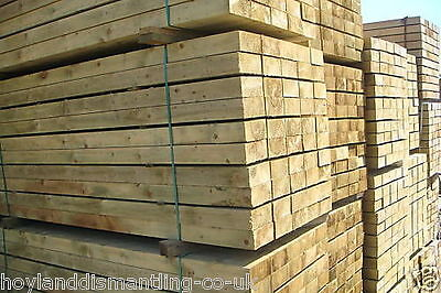 NEW ECO TREATED LANDSCAPING RAILWAY SLEEPERS 2.4m long PRESSURE TREATED