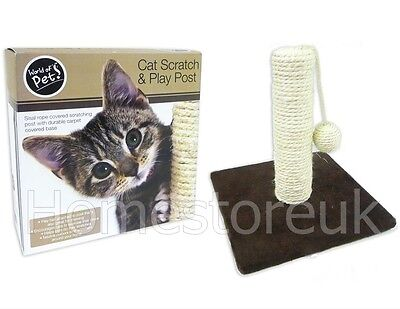 Cat Kitten Pet Scratching & Play Post Sisal Rope Tree Scratcher Claws Chewing 77