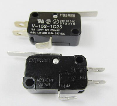 OMRON Miniature Basic Micro Switch V-152-1C25 SPDT Thermosetting Case 28x16mm