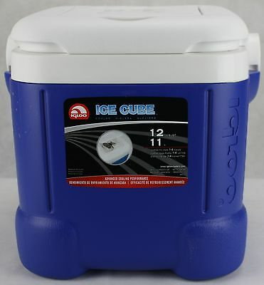 Igloo Ice Cube Square Blue Cooler 14 Can 12 Qt Great Camping Travel Outdoors