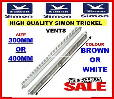 !!sale!!  High Quality Upvc Simon Trickle Vents  Brown Or White, 300Mm Or 400Mm
