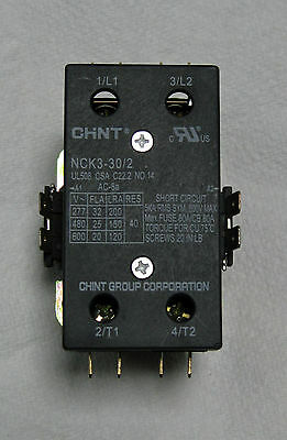 CHINT NCK3-30/2 2-pole 32A 24v Coil AC Contactor UL Listed  5ea  for $15.00!!!