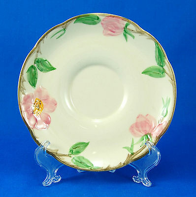 Franciscan DESERT ROSE (USA) Saucer Only 5.75 in. Flowers Earthenware Embossed