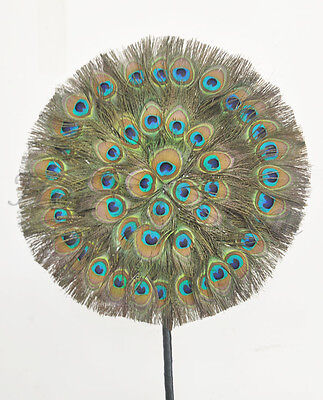 Rounded Peacock Feathers Double side Feathers fan Wedding Decorative bouquet