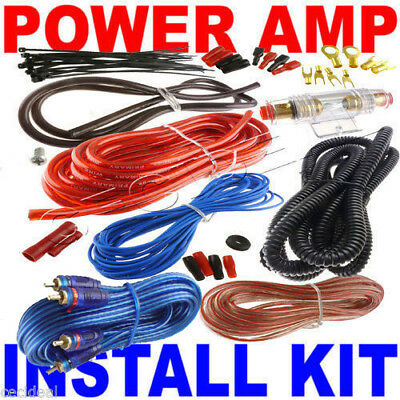 18' 8 Gauge RCA Wire Amp Wiring Fuse Amps Install Kit