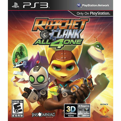 FREE SHIPPING!! RATCHET AND CLANK: ALL 4 ONE  (Sony Playstation 3, 2011) PS3