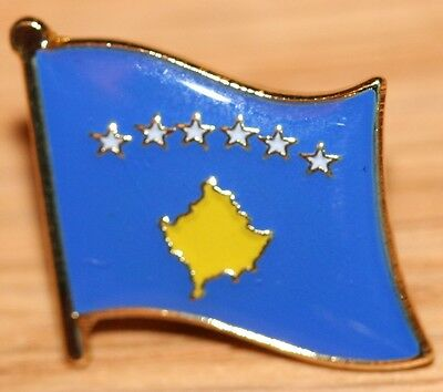 KOSOVO Country Metal Flag Lapel Pin Badge Kosovë Kosova Косово